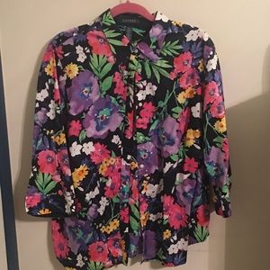 Ralph Lauren flower print blouse